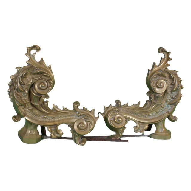 1900 French Chenets Andirons - a Pair For Sale