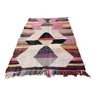 1950s Vintage Ouarzazate Berber Hanbel Moroccan Rug - 4′6″ × 6′10″⁰ For Sale
