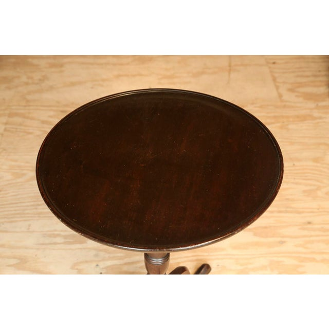 Antique English Tilt-Top Mahogany Side Table - Image 4 of 5