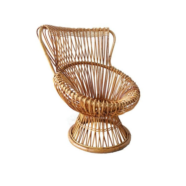 Wood Vintage Franco Albini Margherita Chair For Sale - Image 7 of 7