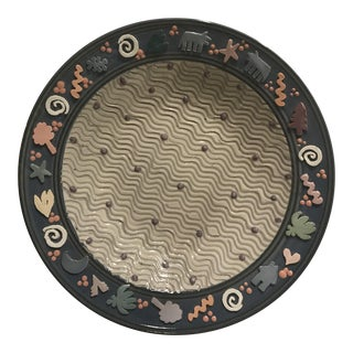 Post Modern Studio Pottery Charger Plate For Sale