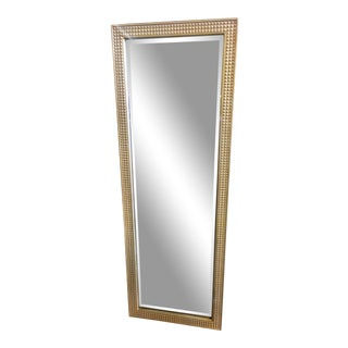 Gold 'Pressed Tin' Wood Frames Full Length Mirror For Sale