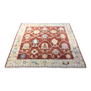"Bellwether Rugs ""Nance"" Colorful Oushak Rug - 6′3″ × 6′9″ For Sale"