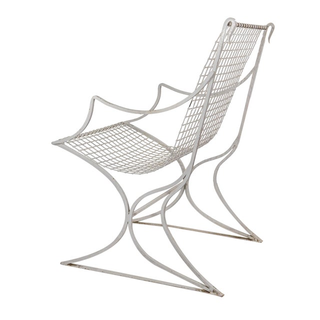 White Salterini Mid-Century Modern White Metal Chairs - Set of 4 For Sale - Image 8 of 13