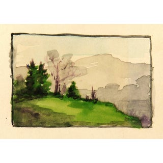 Wilder, French Mountain Landscape Watercolor For Sale