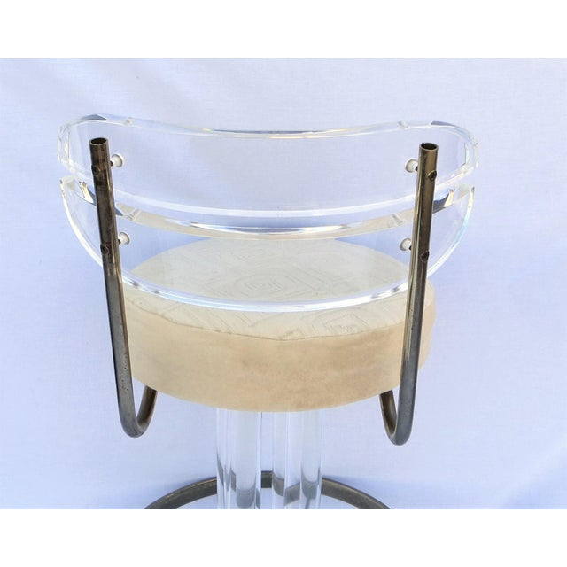 Vintage 1970's Hill Manufacturing Acrylic Bar Stools - Set of 4 For Sale - Image 9 of 13