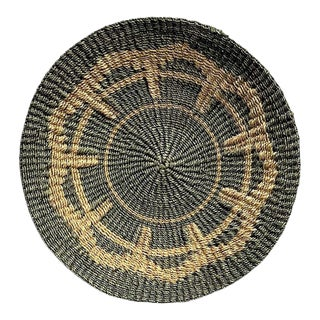 Early 21st Century Filipino Woven Round Abaca Plate For Sale