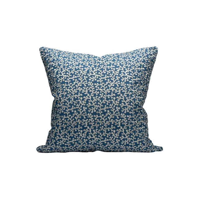 Hele Bay Pillow, Colbalt For Sale