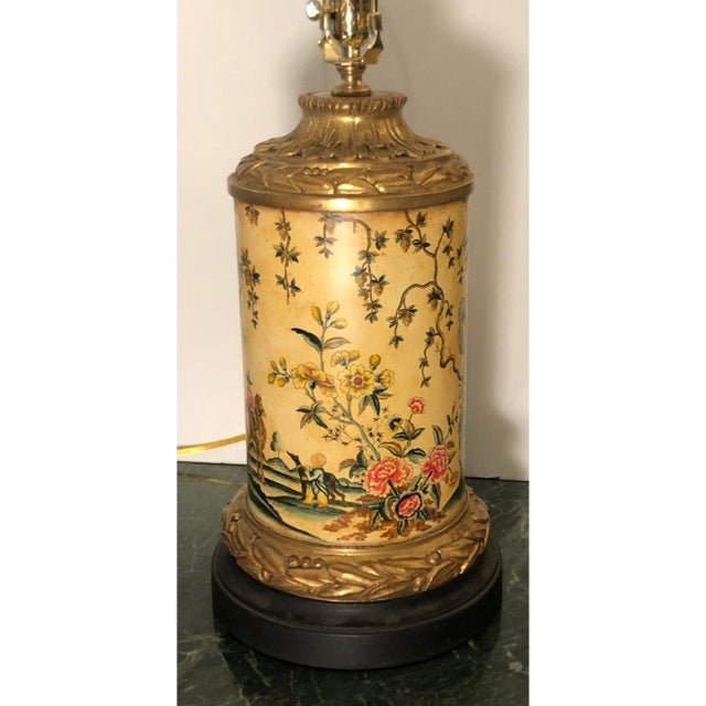 Asian William Switzer Chinoiserie Decorated Designer Table Lamp by Charles Pollock For Sale - Image 3 of 5