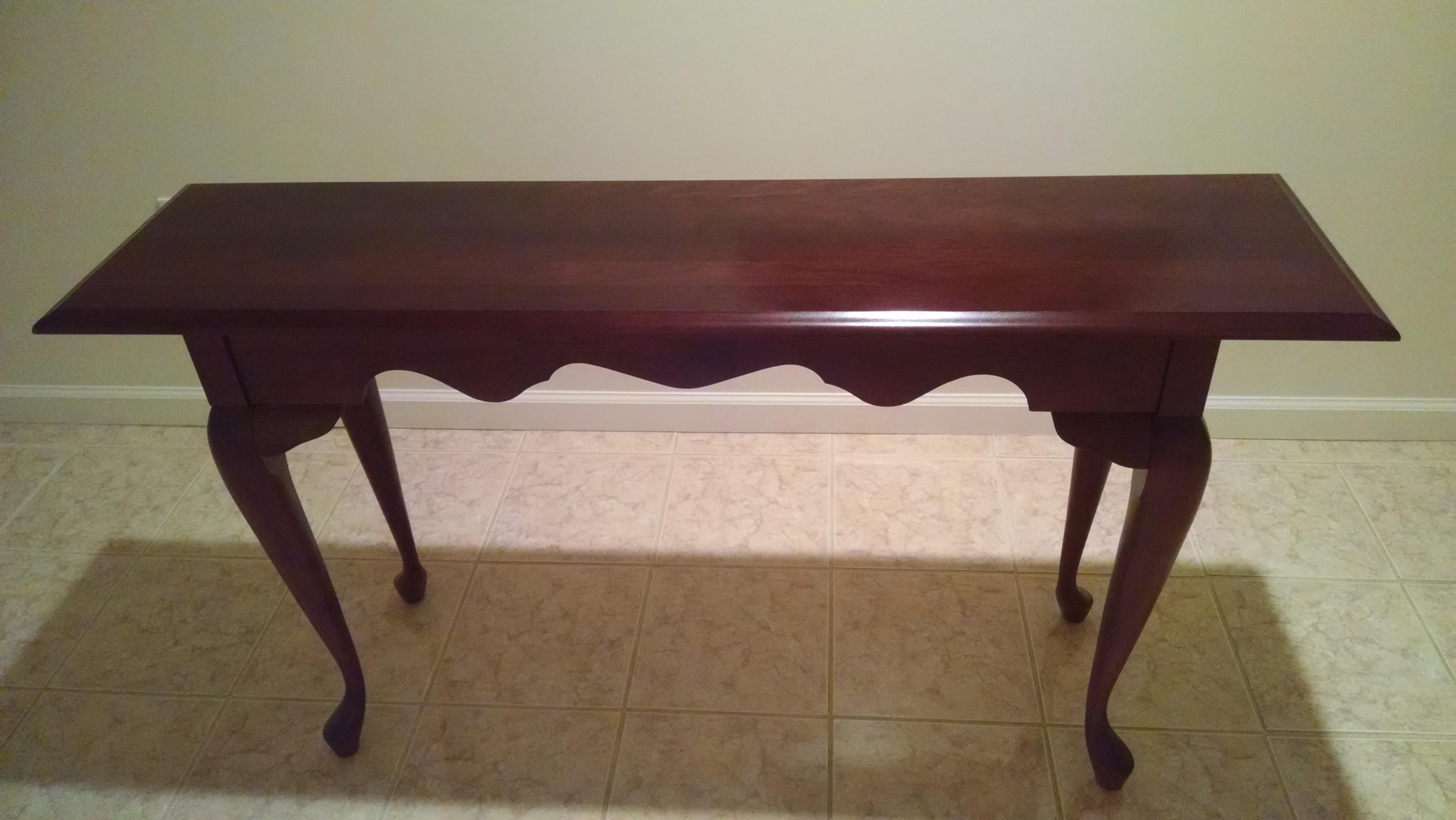 Pennsylvania House Solid Cherry Queen Anne Sofa Table For Sale