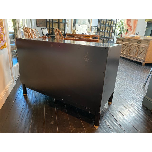 Chinoiserie Tambour Storage Cabinet For Sale In Los Angeles - Image 6 of 9