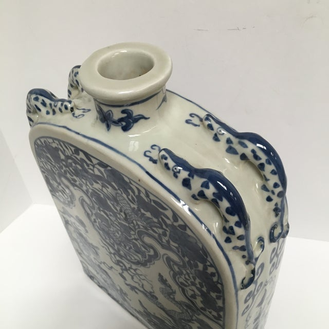 Blue Chinese Dragon Flat-Front Vase - Image 6 of 11