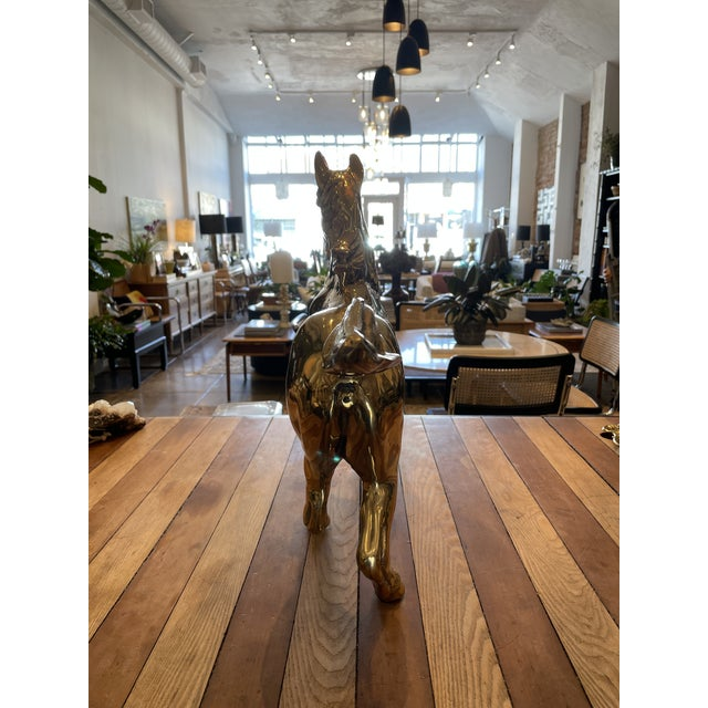 Brass Vintage Brass Horse For Sale - Image 8 of 9