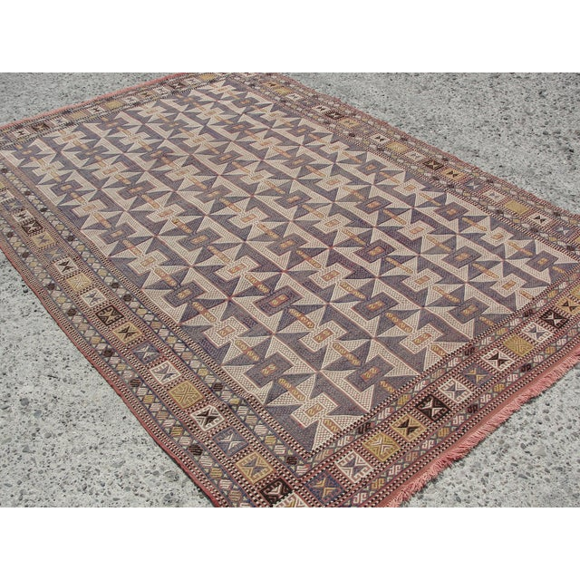 Vintage Turkish Kilim Rug - 6′5″ × 9′6″ - Image 8 of 11