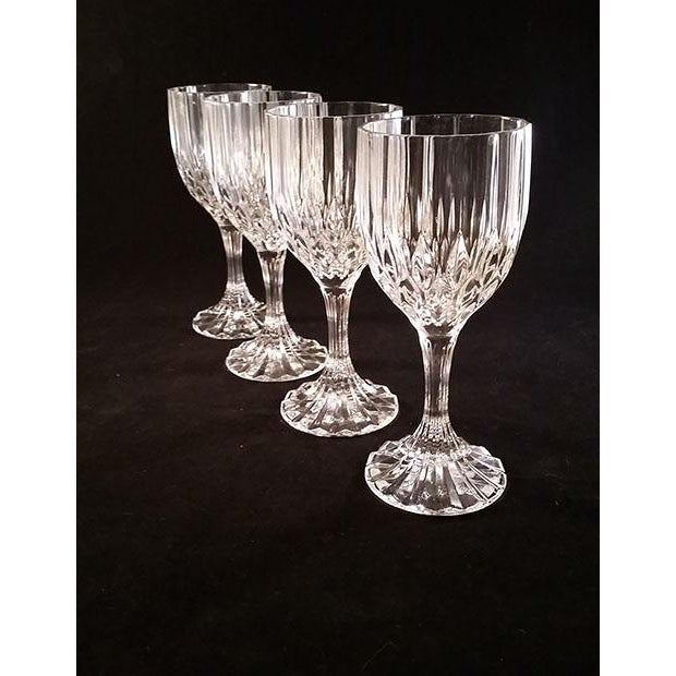 "Set of 4 Wine Glasses Cristal d' Arques-Bretagne 6.5oz. Excellent Condition and still in original box. 6 5/8"" H x 2 3/4"" Rim."
