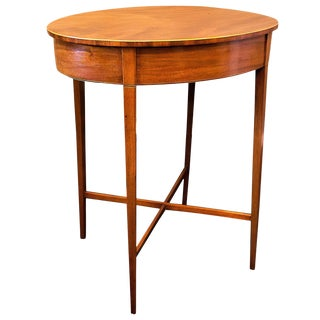 Regency Mahogany Oval Side Table or Stand, circa 1795, England For Sale