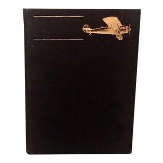 1970s Vintage Lindenbergh Aviation Hardcover Black For Sale