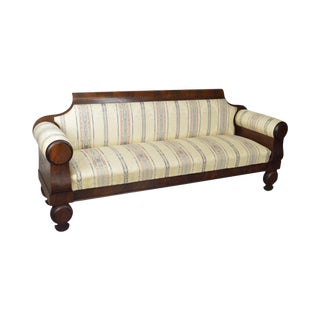 Antique Classical 19th Century Mahogany Baltimore Sofa John Needles For Sale
