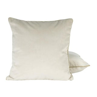 Contemporary Velvet White Pillow Cover For Sale