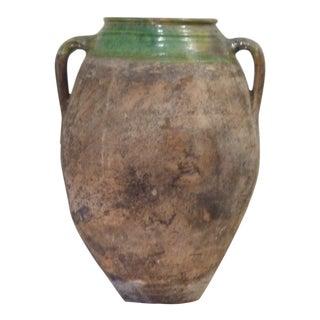 Antique Terra Cotta Olive Oil Jar For Sale
