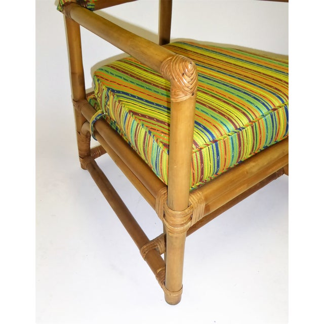 Tommi Parzinger High Back Rattan Armchairs - A Pair For Sale - Image 9 of 13