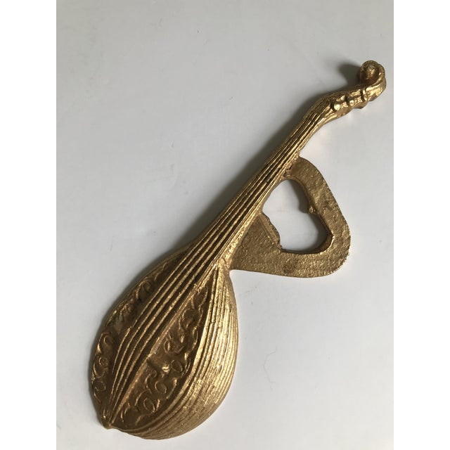 Late 20th Century Vintage Plated Mandolin Bottle Opener For Sale - Image 5 of 5