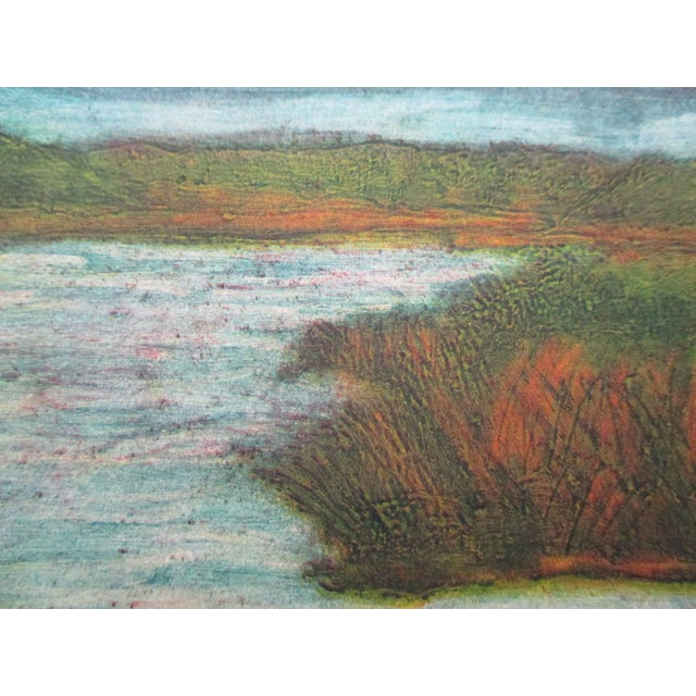 2000 - 2009 Vintage Color Lithograph Titled: Creek Views Signed by the Artist For Sale - Image 5 of 6
