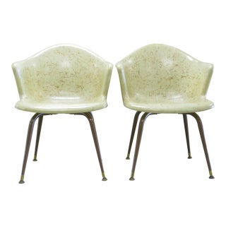 Mid-Century Fiberglass Chairs - A Pair For Sale