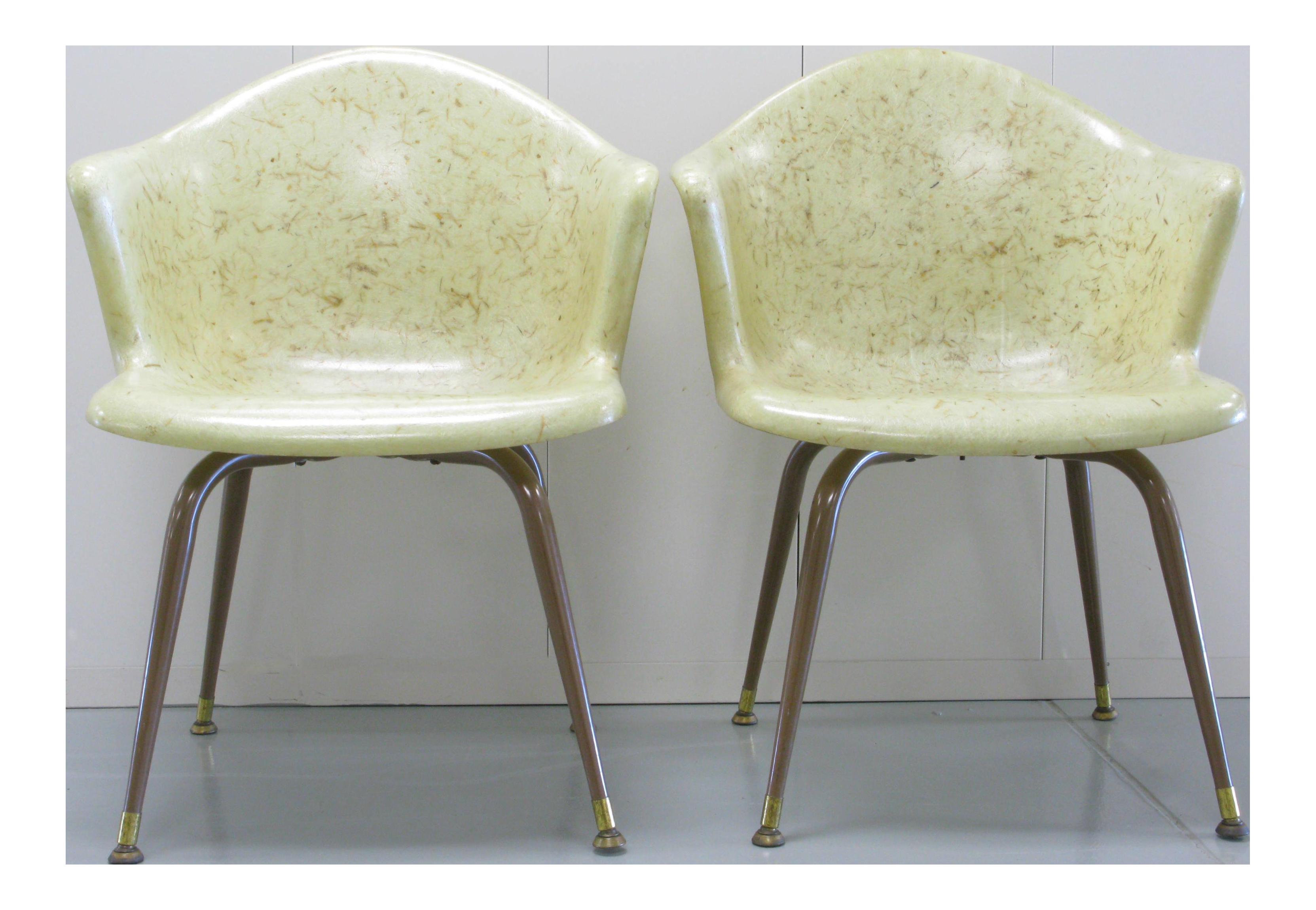 Mid-Century Fiberglass Chairs - A Pair For Sale  sc 1 st  Chairish & Mid-Century Fiberglass Chairs - A Pair | Chairish