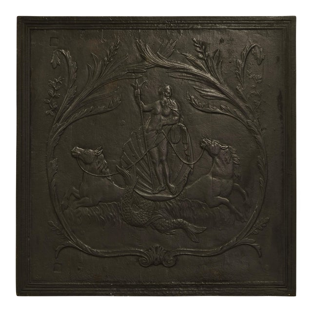 "Antique Fireback, Showing Poseidon ""God of the Seas"" For Sale"