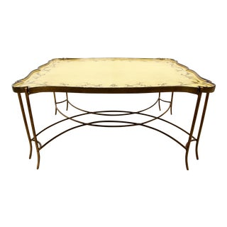 Painted Tray Top Coffee Table For Sale