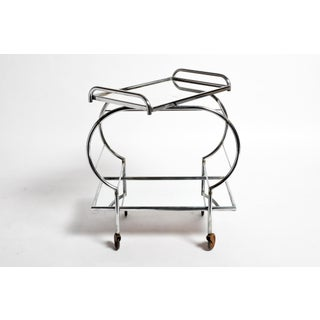 Hungarian Mid-Century Modern Chrome Serving Cart Preview