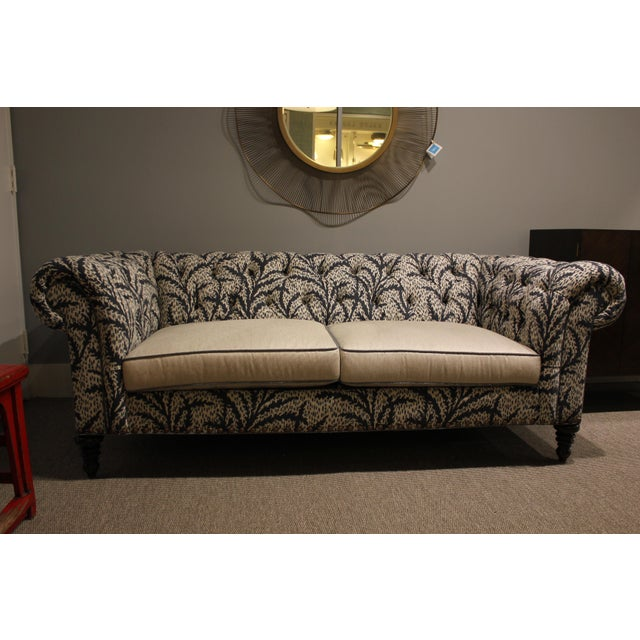 Modern Robert Allen Duralee Group Tufted Back Hutana-Sofa For Sale In Boston - Image 6 of 6