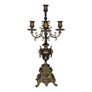 Antique Bronze Candelabra 5 Lights For Sale