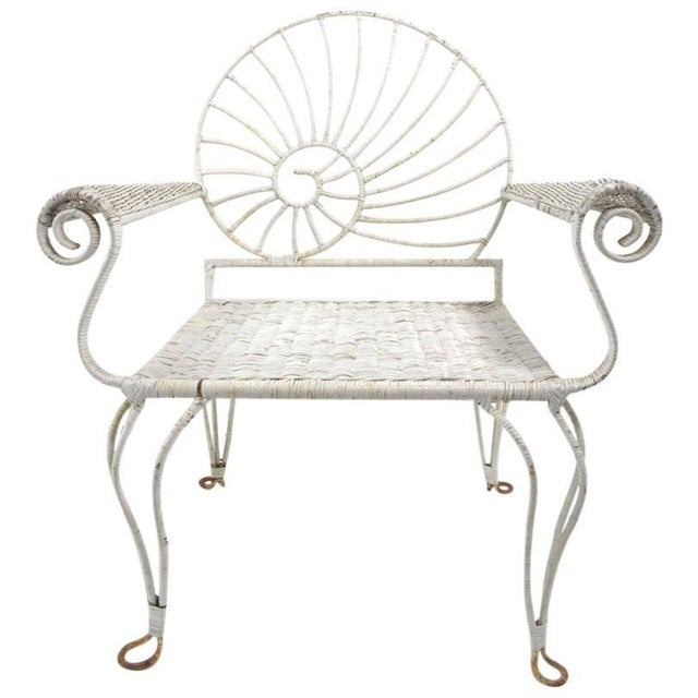 Nautilus Shell Back Arm Lounge Chair For Sale - Image 12 of 12