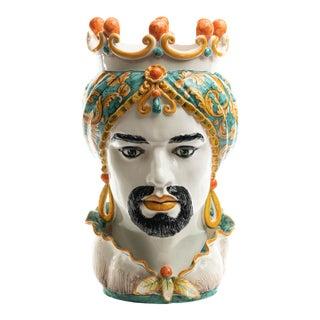 Green & Orange Sicilian Gigante Head, Schittone Moro For Sale