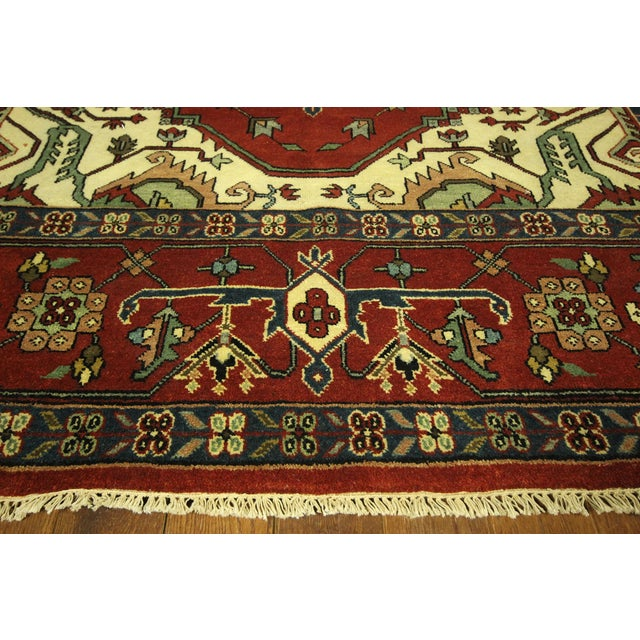 Heriz Oriental Hand Knotted Area Rug - 9'10 x 14' - Image 5 of 10