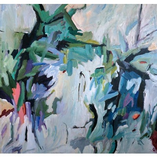 "Laurie MacMillan ""Hanging by a Thread"" Abstract Painting Preview"