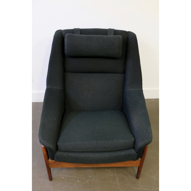 Fabric Folke Ohlsson for Dux Lounge Chair & Ottoman For Sale - Image 7 of 13