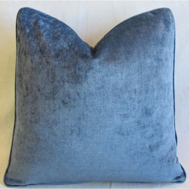 "Scalamandre Scalamandré Blue & White Spoleto Bird & Floral Feather/Down Pillow 22"" Square For Sale - Image 4 of 6"