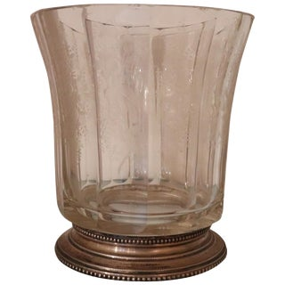 20th Century Italian Art Nouveau Crystal and Silver Vase, 1920s For Sale