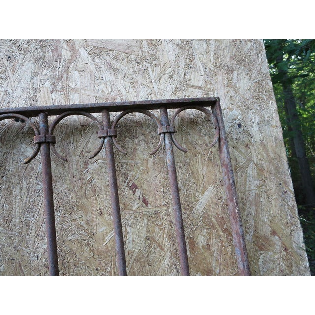 Antique Victorian Iron Gate Window Garden Fence Architectural Salvage Door For Sale - Image 9 of 11