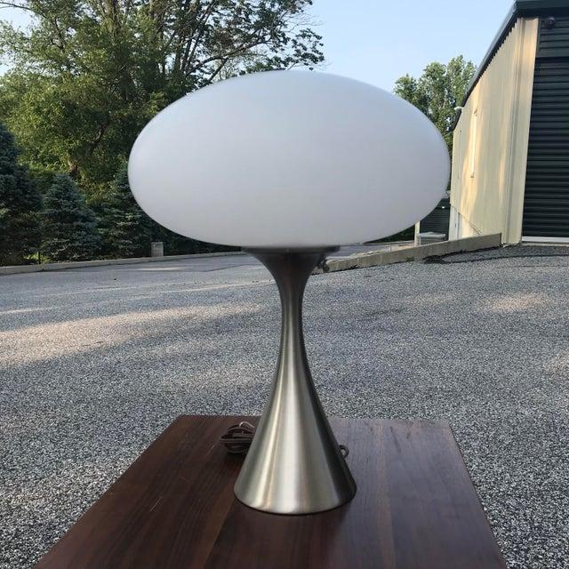 Laurel Mushroom Lamp in Satin Chrome For Sale - Image 13 of 13
