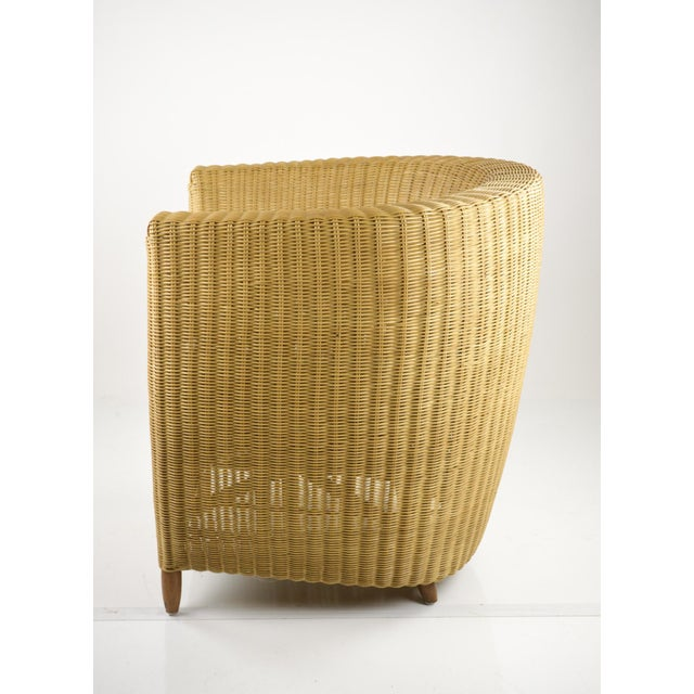 Mid-Century Modern Wicker Tub Chairs - Pair For Sale - Image 5 of 11