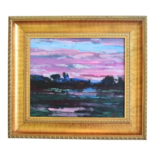 Juan Guzman Santa Barbara California Landscape Oil Painting For Sale