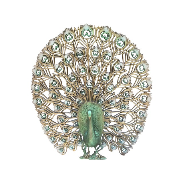 1960s Mid Century Modern Peacock Decor For Sale