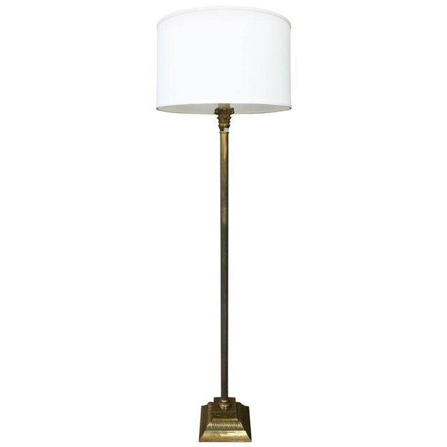 Spanish 1950s Brass Floor Lamp - Image 6 of 6