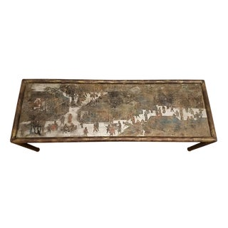 1960s Mid-Century Modern Phillip & Kelvin Laverne Chan Coffee Table For Sale