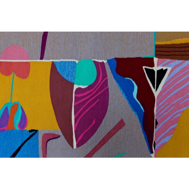 Blue Contemporary Abstract Tapestry by Steve Zoller For Sale - Image 8 of 10