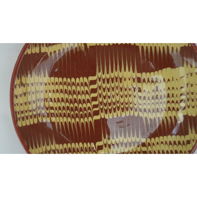 Marbled Redware Pottery Catchall Dish - Image 6 of 8